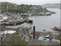 NM8529 : Oban Harbour from McCaig's Tower by M J Richardson