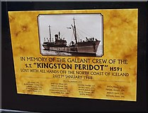 TA0827 : In memory of the gallant crew of the Kingston Peridot by Ian S