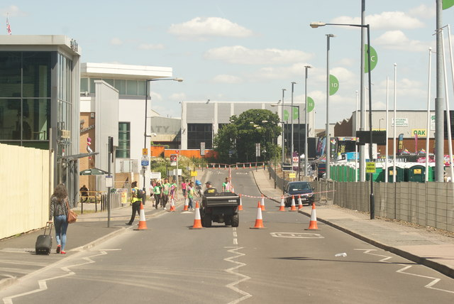 View along Engineer's Way from Olympic Way #4