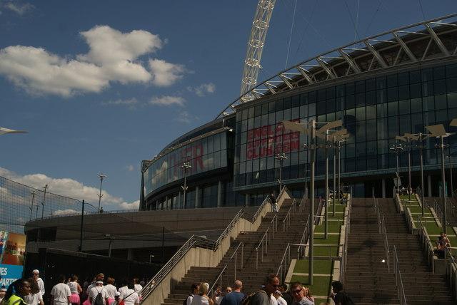 View of Wembley Stadium from Perimeter Way #3