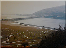 SH6214 : Barmouth Bridge, 1987 by John Baker