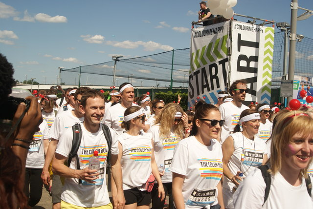 View of the Colour Runners taking off from the start line #4