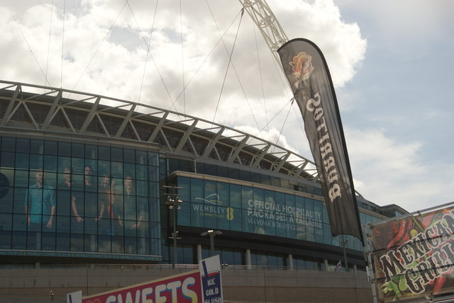View of Wembley Stadium from the car park on Engineer's Way #3