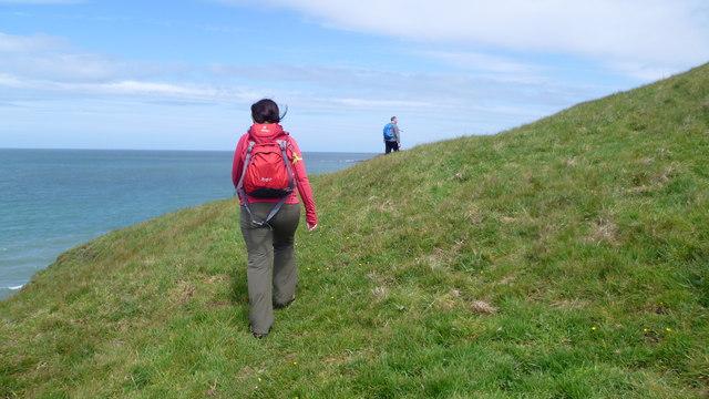 Walking the Wales Coast Path east of Traeth Penllech, Lleyn