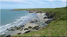 SH2035 : View along the coast from Penrhyn Melyn on Lleyn by Jeremy Bolwell