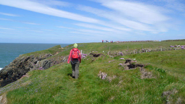 Walking on the Wales Coast Path on Lleyn in May