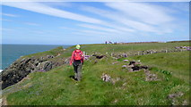 SH2136 : Walking on the Wales Coast Path on Lleyn in May by Jeremy Bolwell