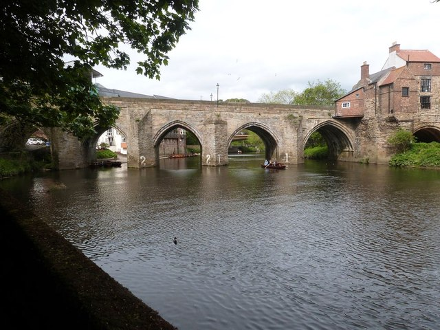 The River Wear and the South side of Elvet Bridge