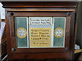 TG1840 : Aylmerton WW1 memorial on the side of the organ by Adrian S Pye