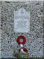 TM1083 : Shelfanger War Memorial on the base of the church tower by Adrian S Pye