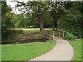 SP1582 : Footbridge over the brook, Elmdon Park, Olton by Robin Stott