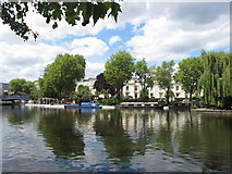 TQ2681 : Double Kiss - narrowboat in Little Venice by David Hawgood