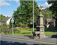 SE0125 : Fountain at small garden in Mytholmroyd by Trevor Littlewood