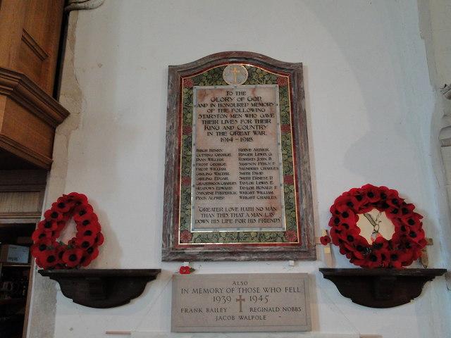 Starston War Memorials