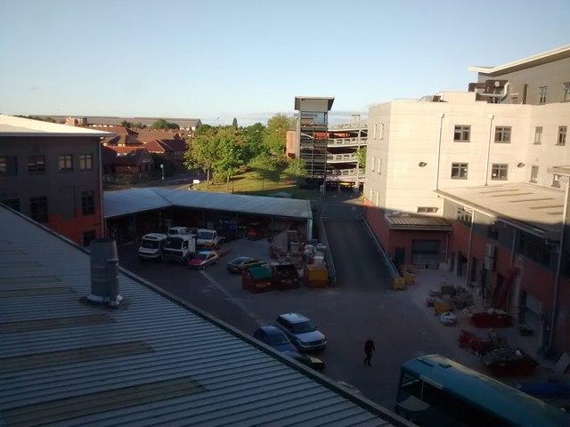 Yard behind City College