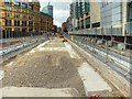 SJ8398 : Construction of Metrolink Stop at Exchange Square (June 2015) by David Dixon