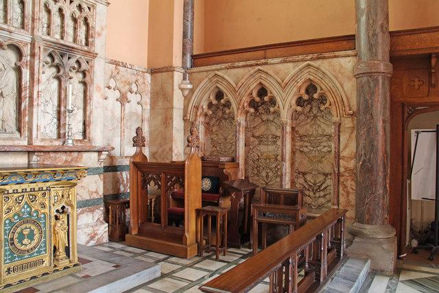 St Michael, Chester Square - Sedilia