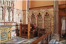 TQ2878 : St Michael, Chester Square - Sedilia by John Salmon