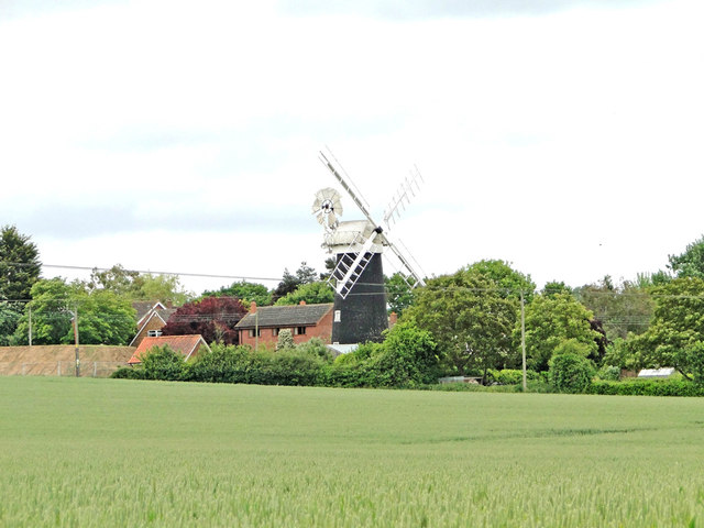Wicklewood Mill from Green Lane