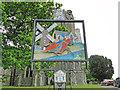 TM0695 : Besthorpe village sign (detail) by Adrian S Pye