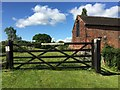 SJ7952 : Audley: gate by Mill House by Jonathan Hutchins
