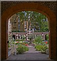 TQ3182 : Cloister Garden, Priory Church of the Order of St John of Jerusalem by Julian Osley