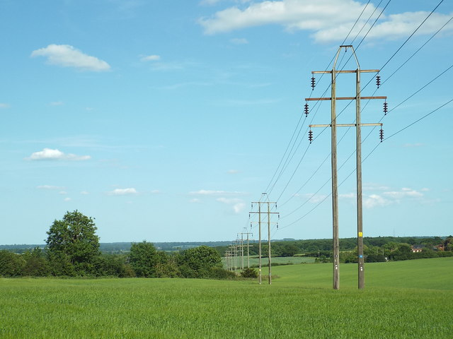 Pylons across Tawney Common, near Epping