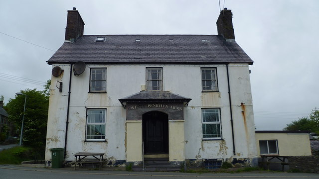 The old Penrhyn Arms in Sarn Mellteyrn