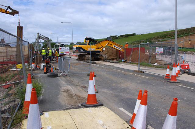 Slyne Road construction work (A6)