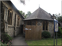 TQ2772 : Holy Trinity, Upper Tooting: the Taylor Hall by Stephen Craven