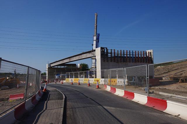 Lancaster Road Bridge construction (A6)