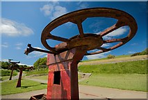 TA0390 : Chair lift remains, Scarborough by Paul Harrop