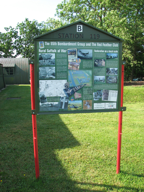 95th Bombardment Group Museum - information board