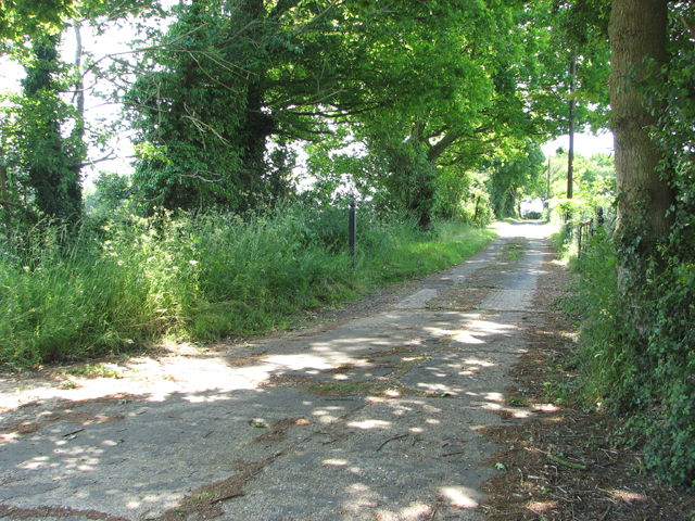 Old concreted road