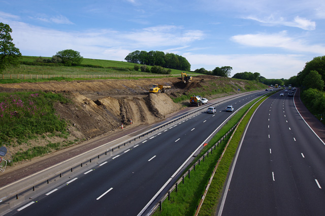 M6 north from Foundry Lane bridge