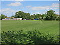 TL3845 : Playing fields by Melbourn Village College by Hugh Venables