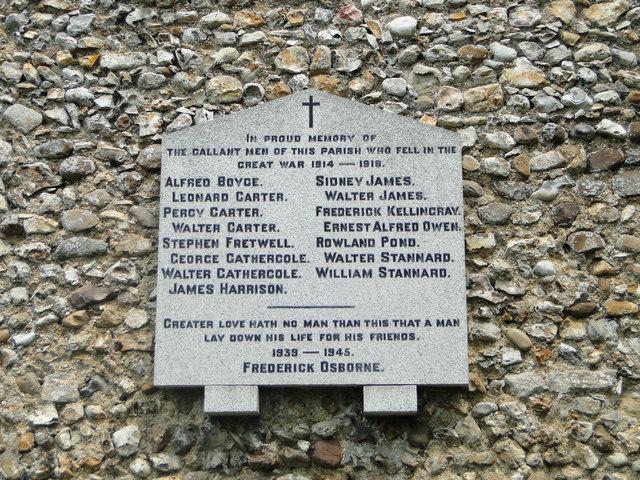 Wretton War Memorial