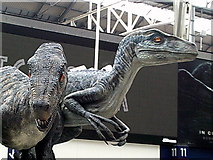 """TQ3179 : Two of the four """"dinosaurs"""" at Waterloo Station by Peter S"""