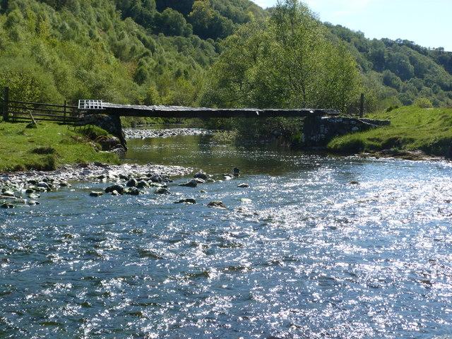 Footbridge across the River Euchar