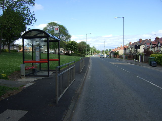 Bus stop and shelter on St Aidan's Terrace