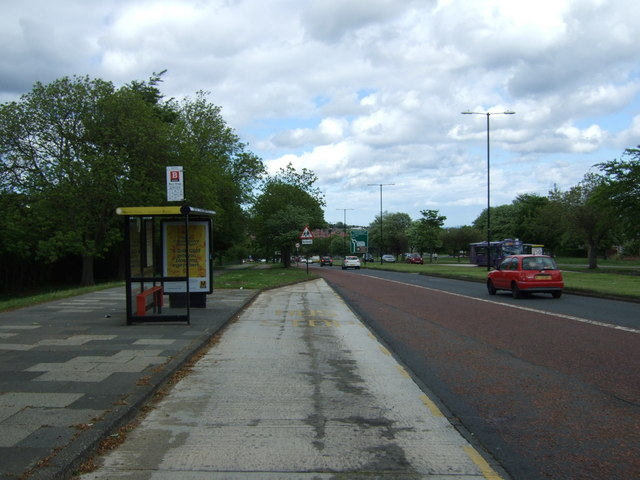 Bus stop and shelter on Durham Road (A690)