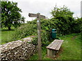 ST9997 : Thames Path signpost, Ewen by Jaggery