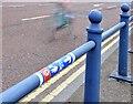 J3474 : National Cycle Network sticker, Queen's Bridge, Belfast (June 2015) by Albert Bridge