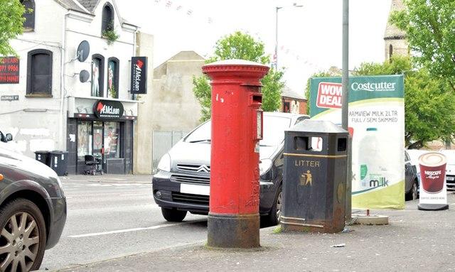 Pillar box BT13 109, Belfast (June 2015)