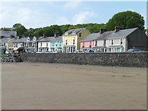 SH5637 : Houses on the sea front, Borth y Gest by Christine Johnstone