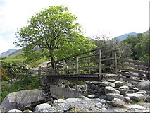 NY1807 : Footbridge across Lingmell Gill by Gareth James