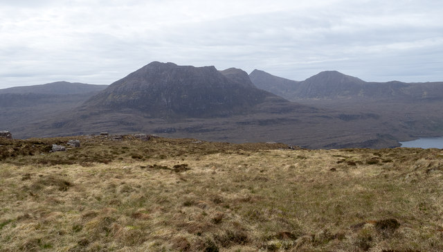 Moorland on slope of Stac Pollaidh