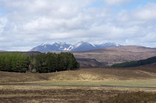 Moorland beside the Abhainn Droma