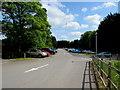 ST9897 : Kemble railway station main car park by Jaggery