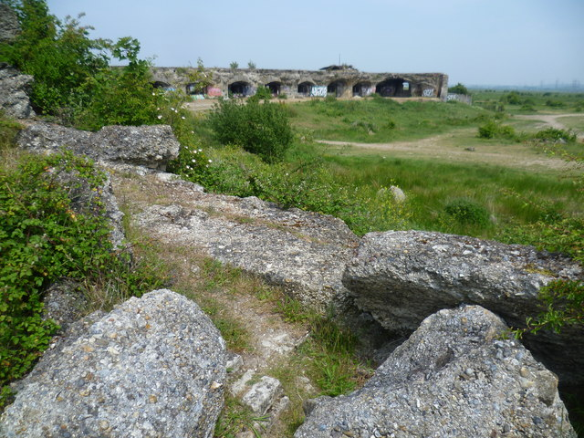 Looking across Shornmead Fort